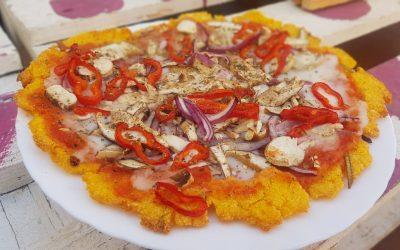 PIZZA DE POLENTA CON VERDURAS
